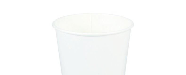 10oz White Plain Paper Hot Cup