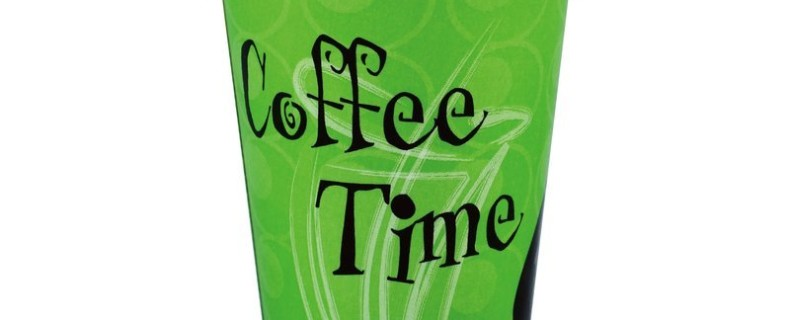 Cold Beverage Cups – Coffee Time (Green / Orange)