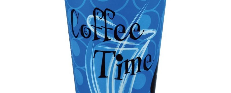 Cold Beverage Cups – Coffee Time (Indigo / Blue)